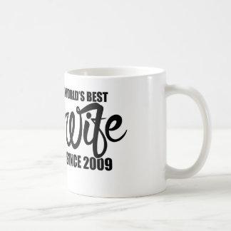 Worlds best wife since 2009 coffee mug