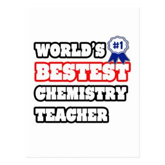 World's Bestest Chemistry Teacher Post Card