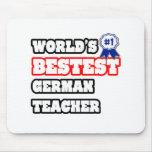 World's Bestest German Teacher Mouse Pad