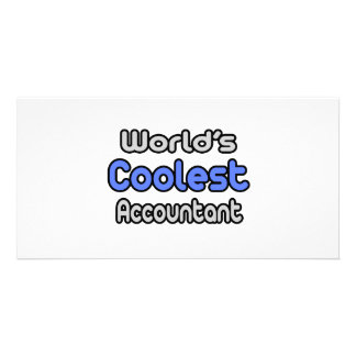 World's Coolest Accountant Customized Photo Card