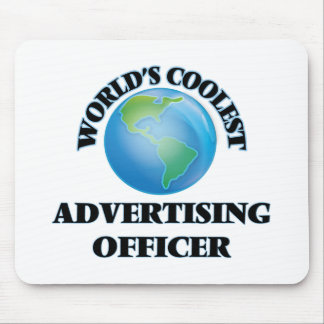 wORLD'S COOLEST aDVERTISING oFFICER Mousepads