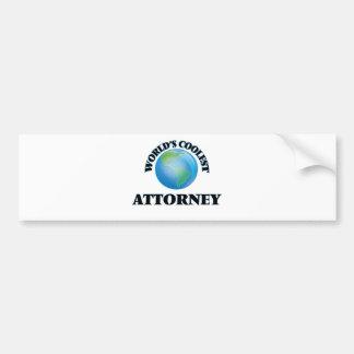 wORLD'S COOLEST aTTORNEY Bumper Stickers