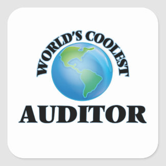 wORLD'S COOLEST aUDITOR Square Sticker