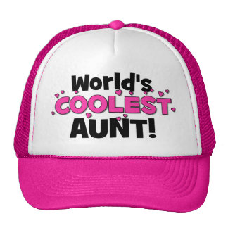 World's Coolest Aunt!  Great gift for Auntie To Be Trucker Hat