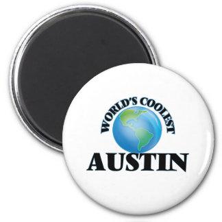 World's Coolest Austin Refrigerator Magnet