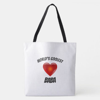World's Coolest Baba Heart Tote Bag