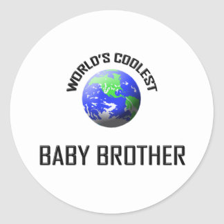 World's Coolest Baby Brother Stickers