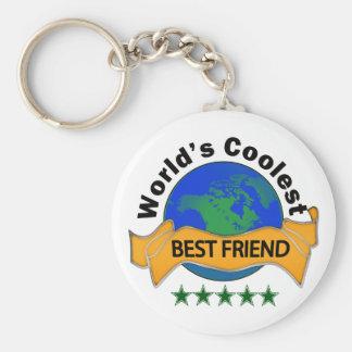 World's Coolest Best Friend Basic Round Button Keychain