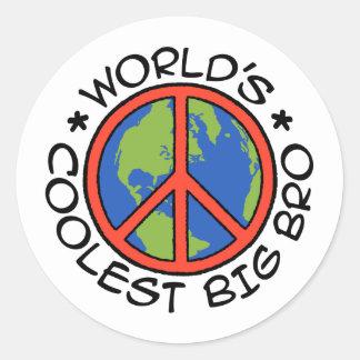 World's Coolest Big Brother Round Sticker