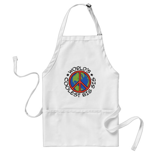 World's Coolest Big Sister Standard Apron