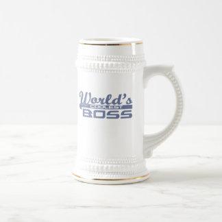 World's Coolest Boss 18 Oz Beer Stein