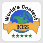 World's Coolest Boss Square Sticker