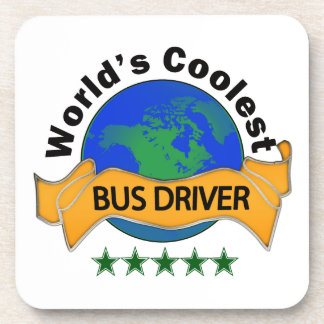 World's Coolest Bus Driver Beverage Coaster