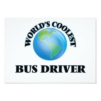 "World's coolest Bus Driver 5"" X 7"" Invitation Card"