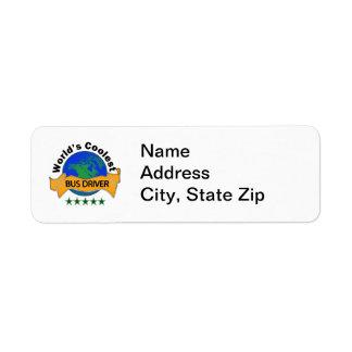 World's Coolest Bus Driver Custom Return Address Label