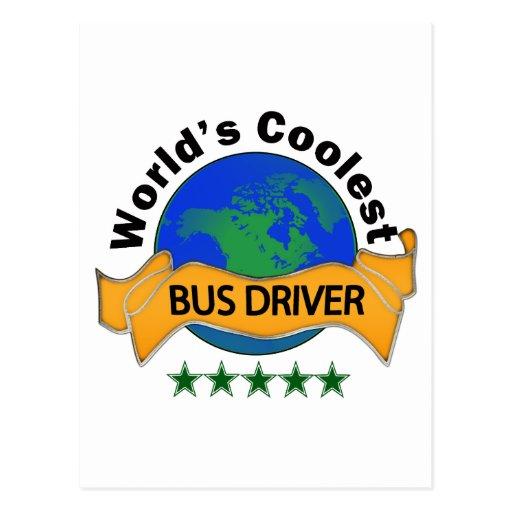 World's Coolest Bus Driver Postcard