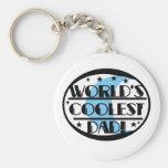 World's Coolest Dad Keychain