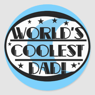 World's Coolest Dad Tshirts and Gifts Classic Round Sticker