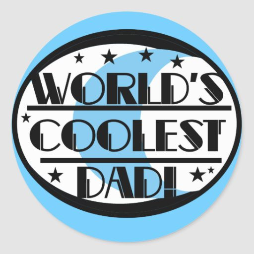 World's Coolest Dad Tshirts and Gifts Stickers