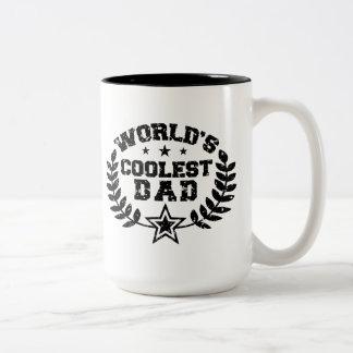World's Coolest Dad Two-Tone Coffee Mug