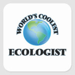 wORLD'S COOLEST eCOLOGIST Square Stickers