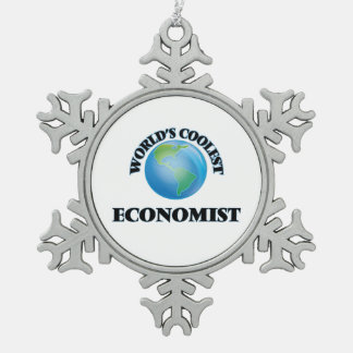 wORLD'S COOLEST eCONOMIST Snowflake Pewter Christmas Ornament