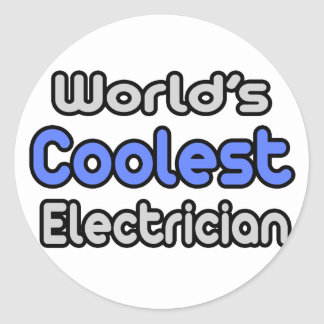 World's Coolest Electrician Classic Round Sticker