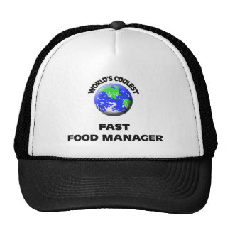 World's Coolest Fast Food Manager Mesh Hats