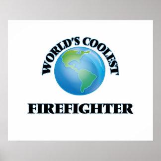 World's coolest Firefighter Print