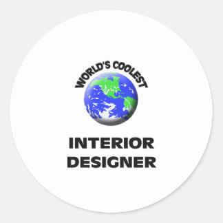 World's Coolest Interior Designer Round Stickers