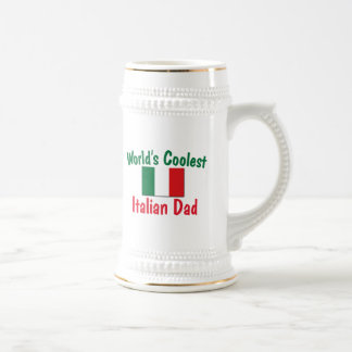 World's Coolest Italian Dad 18 Oz Beer Stein