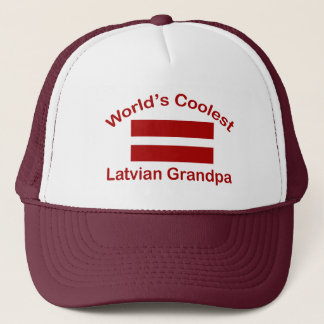 World's Coolest Latvian Grandpa Trucker Hat