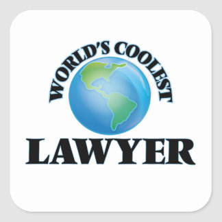 World's coolest Lawyer Square Stickers