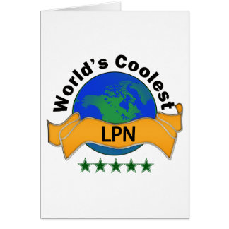 World's Coolest LPN Greeting Cards