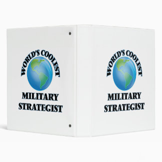 World's coolest Military Strategist 3 Ring Binders