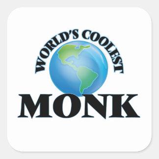 World's coolest Monk Square Sticker