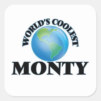 World's Coolest Monty Square Stickers