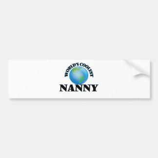 World's coolest Nanny Bumper Sticker