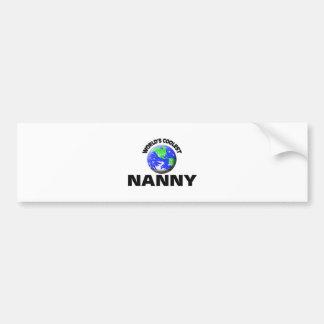 World's Coolest Nanny Bumper Stickers
