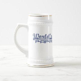 World's Coolest Papa 18 Oz Beer Stein