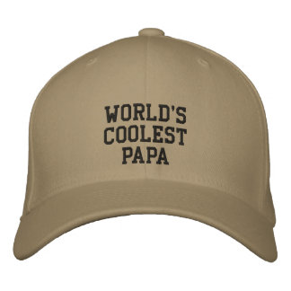 World's coolest papa embroidered Cap
