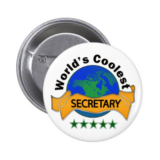 World's Coolest Secretary 2 Inch Round Button