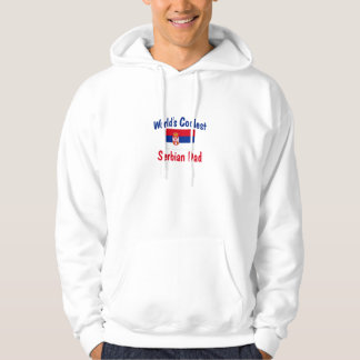 World's Coolest Serbian Dad Hooded Pullovers