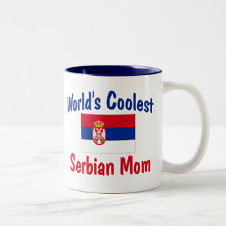 World's Coolest Serbian Mom Gift Two-Tone Coffee Mug