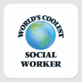 World's coolest Social Worker Square Sticker