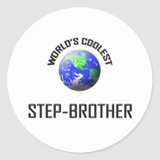 World's Coolest Step-Brother Stickers
