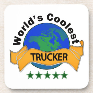 World's Coolest Trucker Drink Coasters