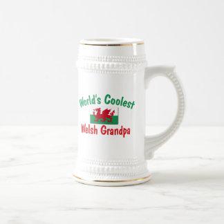 World's Coolest Welsh Grandpa 18 Oz Beer Stein