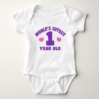 World's Cutest 1 Year Old Baby Bodysuit