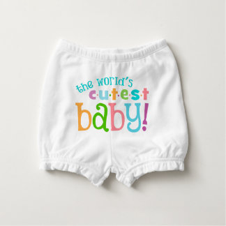 World's Cutest Baby - Cute Baby Bloomers Diaper Cover